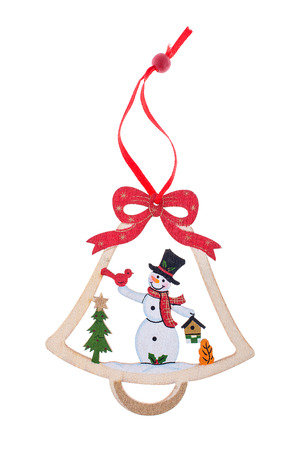 snowman decoration made of wood
