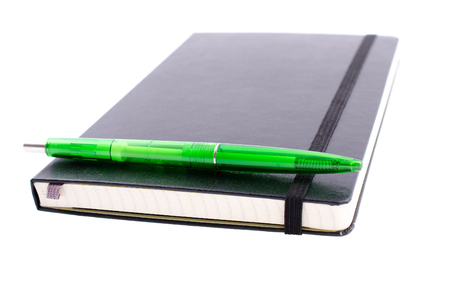 Notebook with pen for records