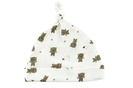 white baby hat on a white background