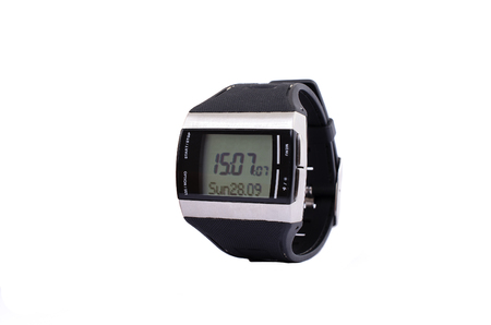 electronic watches on a white background