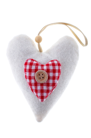 the heart of the material in the vintage style Stock Photo