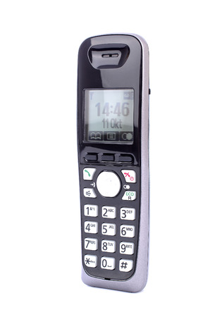 numpad: modern cordless phone with buttons Stock Photo