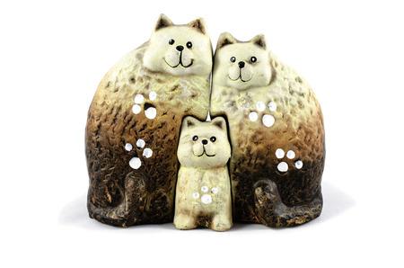 family cats ceramics
