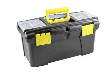 cassetta degli attrezzi di plastica Archivio Fotografico