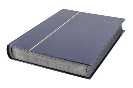Blue Book and a white background Stock Photo