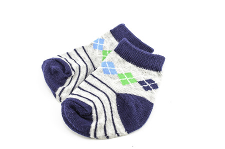 gray baby socks with a pattern