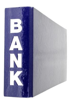banking folder on white background