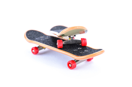 two fingerboard on a white background