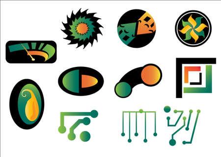 Set of abstract logos Vector