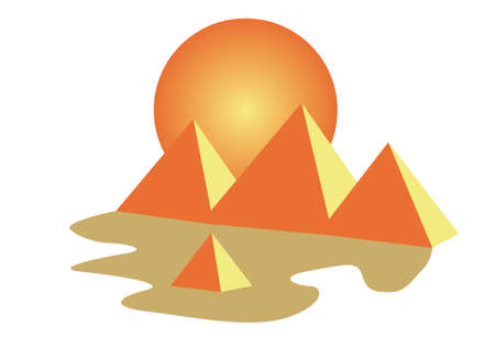 cheops: Egypt pyramids of Giza tourism icon Illustration