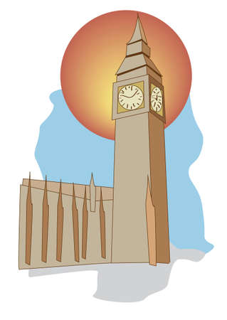 tourismus icon: Big Ben London Tourismus-Symbol