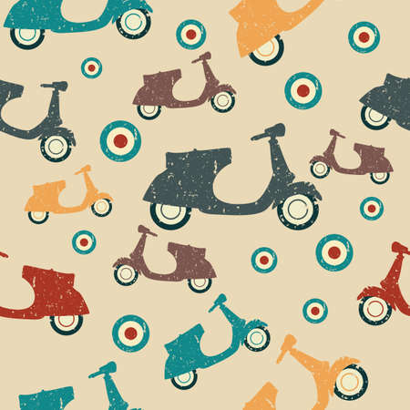 Scooter seamless pattern Illustration