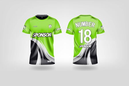 t-shirt sport design template, Soccer jersey mockup for football club. uniform front and back view. Stock Vector - 130417484
