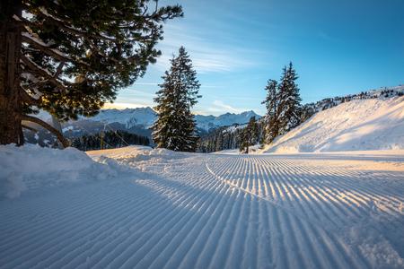 a ski area with fantastic weather Stock Photo
