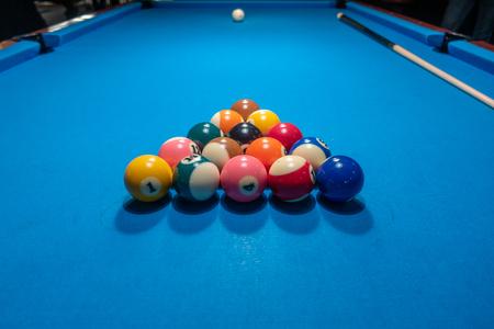 Billard balls before kickoff Banco de Imagens