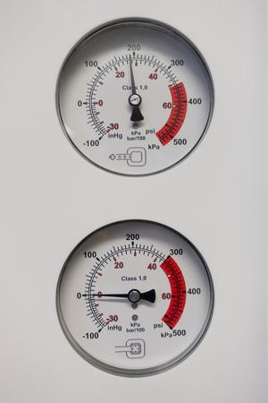 two barometers indicate the pressure Archivio Fotografico