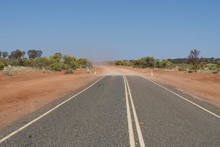 a highway in the australian outback ends in the desert