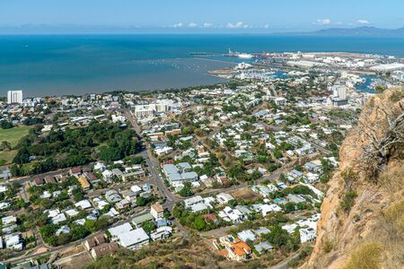 a view from above of the australian coastal town Tully in the north of australia