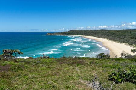 the beautiful beach of Noosa on the sunshine coast in Australia with beautiful weather and blue sky with white clouds Reklamní fotografie