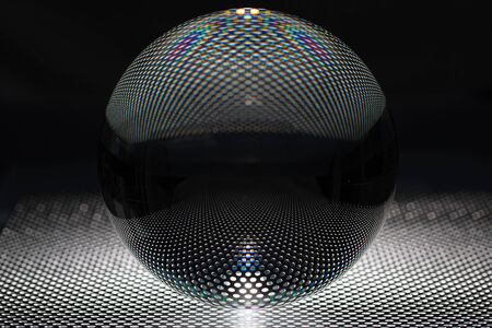 in a perfect flawless lens ball you can see a regular pattern Stockfoto