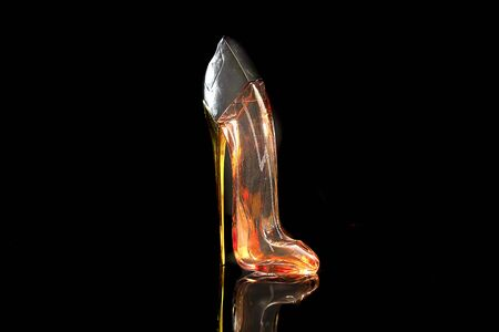 The glass lady shoe Attractive design for womens fragrance