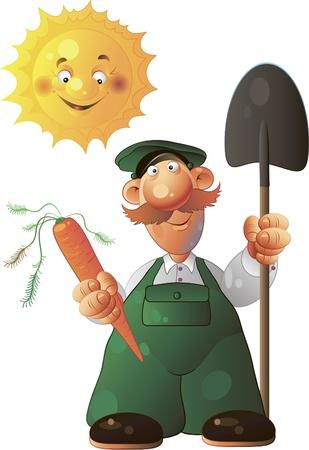 kitchen garden: gardener