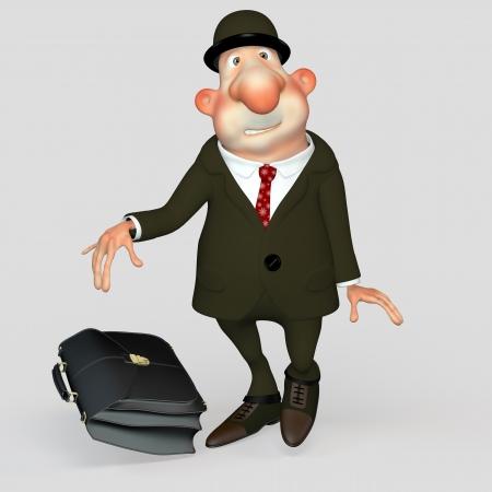 bureaucrat: Men gentleman bureaucrat, clerk, scared loser.