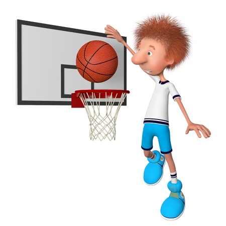the basketball  player on training. training beginning. photo