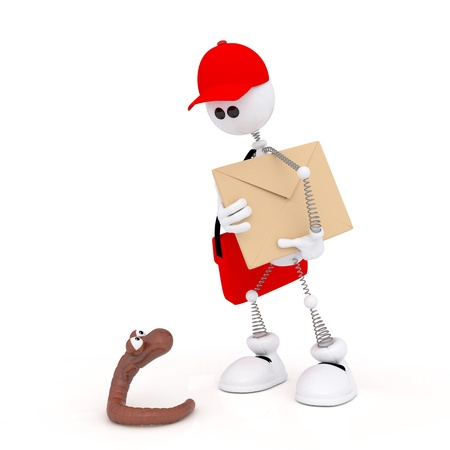 delivers: The mail carrier delivers letters and parcels.