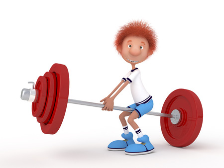 persuasion: The young athlete engaged in weightlifting