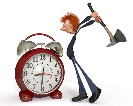 uneasy: The uneasy alarm clock will be prostrate in exact blow.