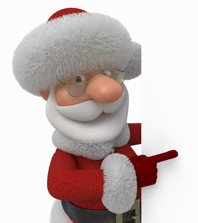 New Year's congratulation from Santa Claus.
