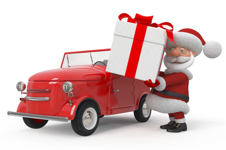 Delivery of gifts on New Year's Eve