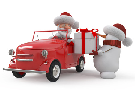 Delivery of gifts on New Years Eve photo