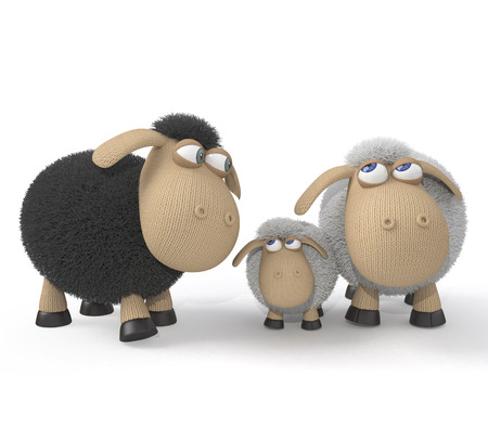 3d St. Valentine's Day is celebrated by all lambs