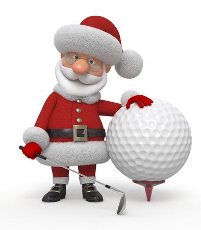 Het sprookje karakter speelt golf