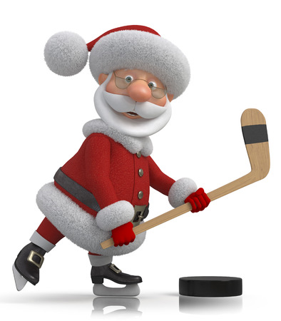 hockey games: Winter sport for cheerful Christmas
