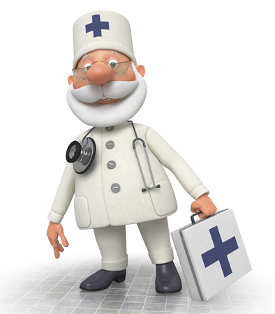 flu vaccination: Work of an emergency medical service of all is expeditious Stock Photo
