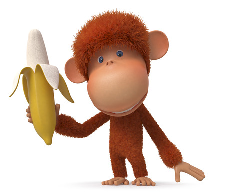 banana: cheerful animal similar to the person