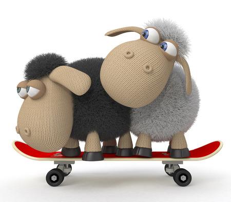 drifting: Little lambs ride a big board