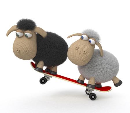 drifts: Little lambs ride a big board