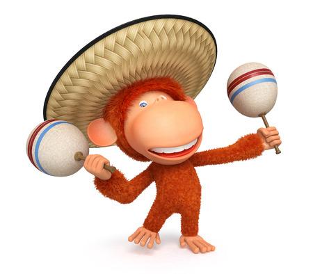 furry animals: La primacía rojo se ve desde debajo del sombrero y danzas de México