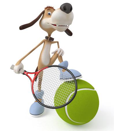 meet: sports meet on big tennis Stock Photo