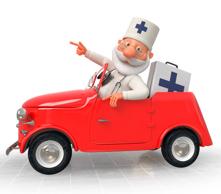 flu vaccine: Work of an emergency medical service of all is expeditious Stock Photo