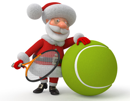tennis: New Years sports entertainment of the fantastic grandfather Stock Photo