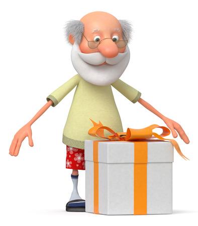 persona mayor: El abuelo recibi� un gran regalo para el aniversario