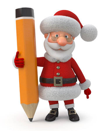 animated film: The fantastic grandfather poses with a pencil