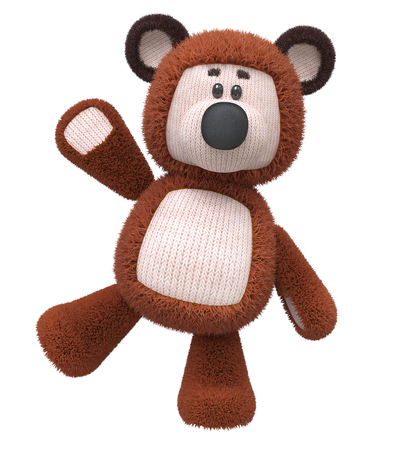 directly: the cheerful fluffy bear cub costs directly