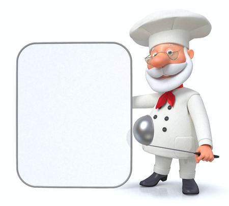 kitchen range: 3D illustration of advertizing by the cook of the range of products in kitchen