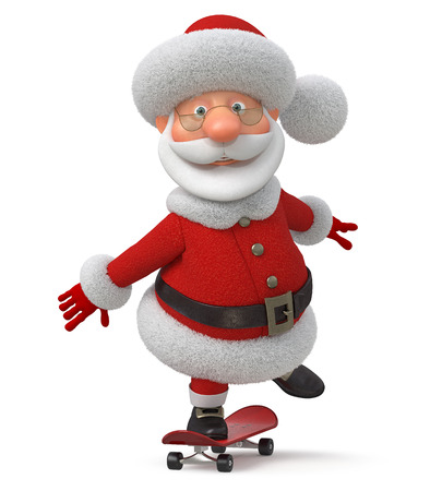 3d illustration the fantastic grandfather congratulates merry Christmas Stock Photo